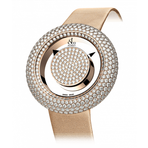 Brilliant Mystery Pave Diamonds Rose Gold (44MM)