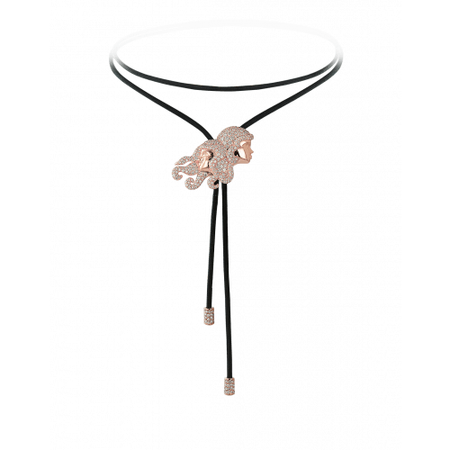 Zodiac Gemini String Necklace Rose Gold Diamond