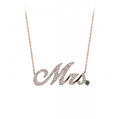 Rose Gold Mrs Necklace