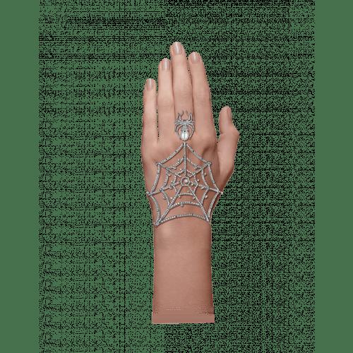 Jacob's Web White Gold Ring Bracelet