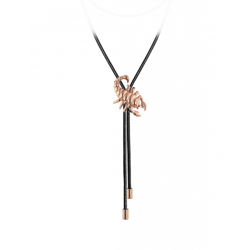 Zodiac Scorpio String Necklace Rose Gold