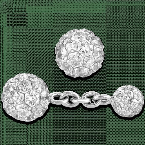 Invisible Set Diamond Ball Cufflinks