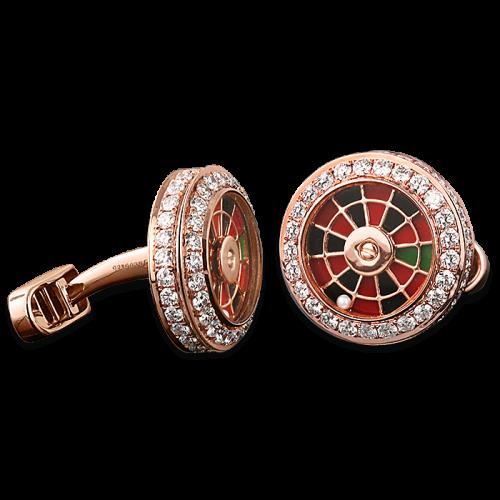 Rose Gold Roulette Wheel Cufflinks
