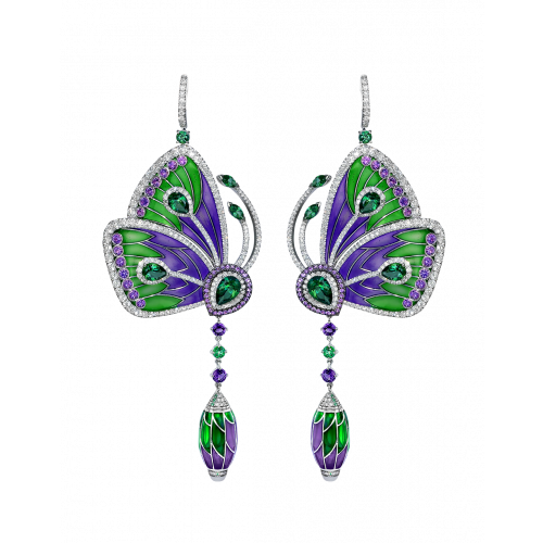 PURPLE CATHEDRAL PAPILLON EARRINGS