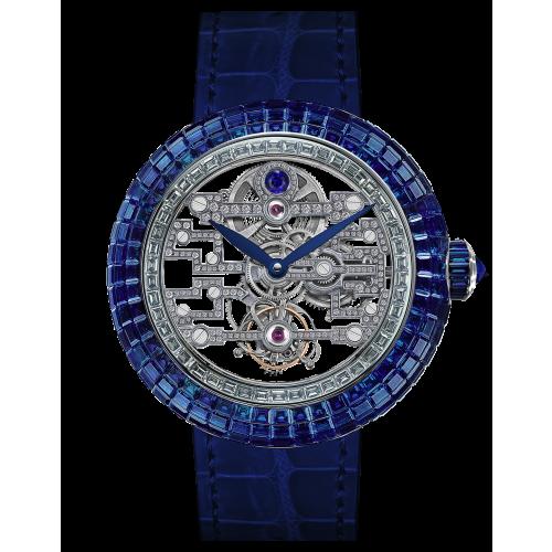 Brilliant Art Deco Blue Sapphire