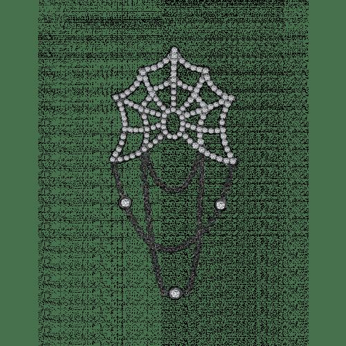Jacob's Web Black Plated Gentlemen's Stickpin