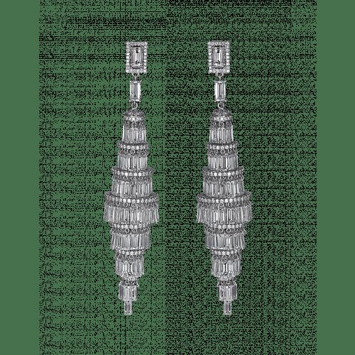 Lustre Diamond Chandelier Earrings