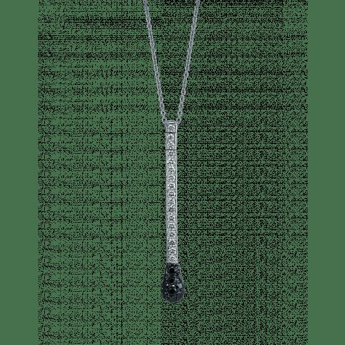 Black Diamonds and White Diamond Match Necklace