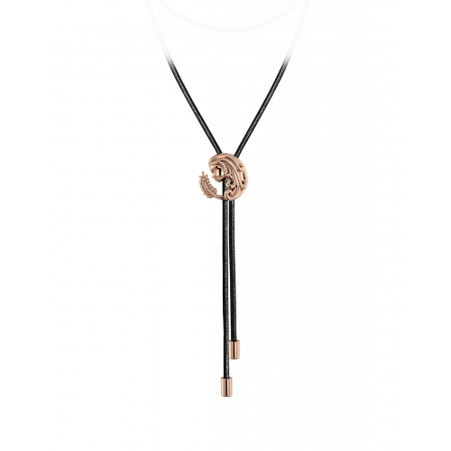 Zodiac Virgo String Necklace Rose Gold