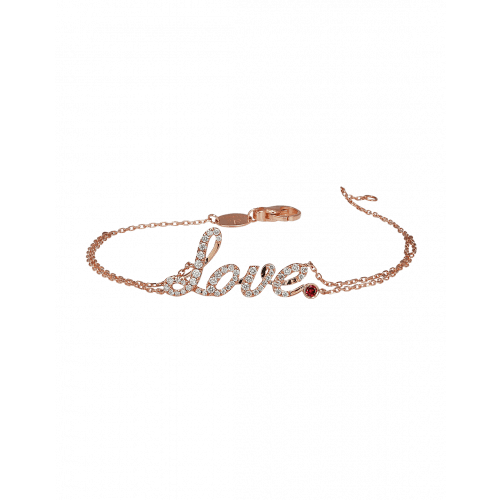 Rose Gold Love Bracelet Ruby