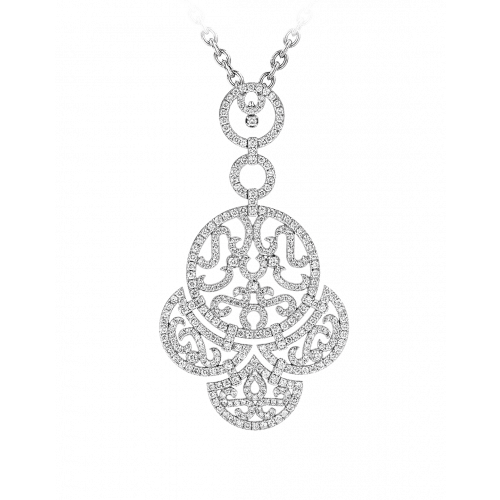 Lace White Gold Diamond Lace Pendant