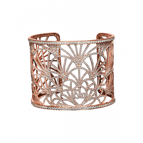 Abanico Small Cuff Rose Gold Bracelet