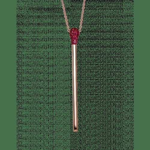 Ruby Match Necklace Long