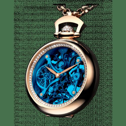 Brilliant Pocket Watch Pendant Blue