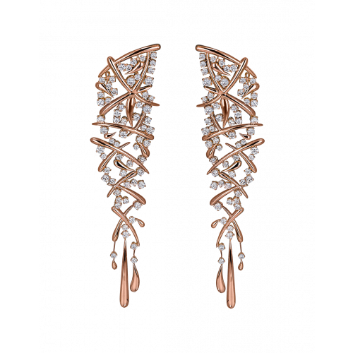 Rose Gold Carnivale Earrings