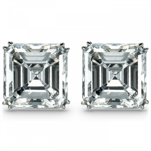 Square Emerald-Cut Solitaire Earrings