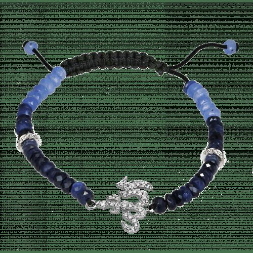 Diamond and Sapphire Beads Allah Bracelet