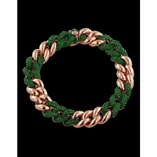 Cuban Link Bracelet Emeralds