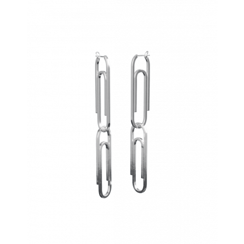 Plain Paper Clip Earrings