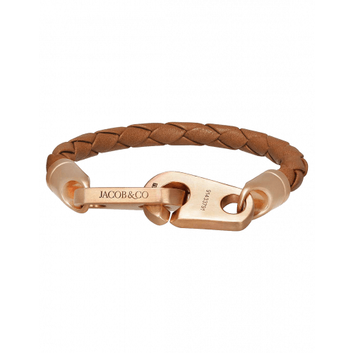 Perfect Fit Bracelet Rose Gold Baked Brown Leather Matte Finish