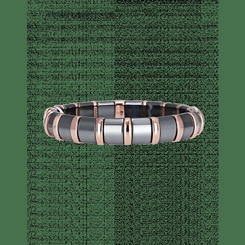 Hematite Bracelet 18 Rose Bars