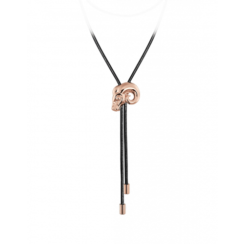 Zodiac Aries String Necklace Rose Gold
