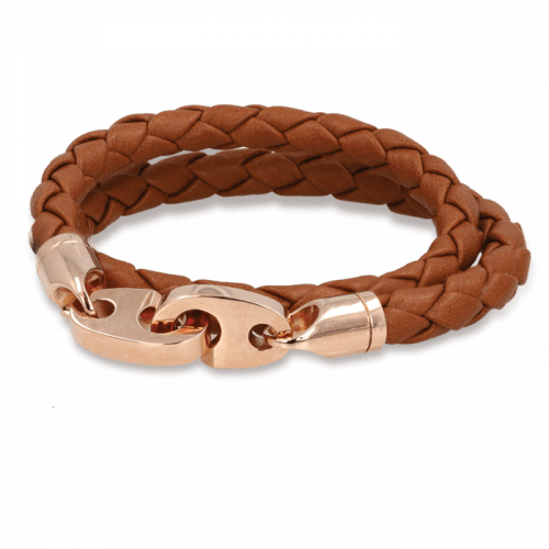 Mens Perfect Fit Bracelet Baked Brown
