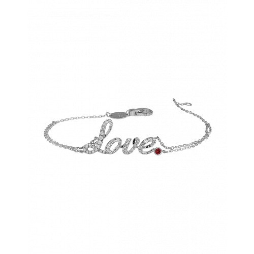White Gold Love Bracelet Ruby