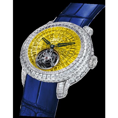 Caviar Tourbillon Yellow & White Diamonds