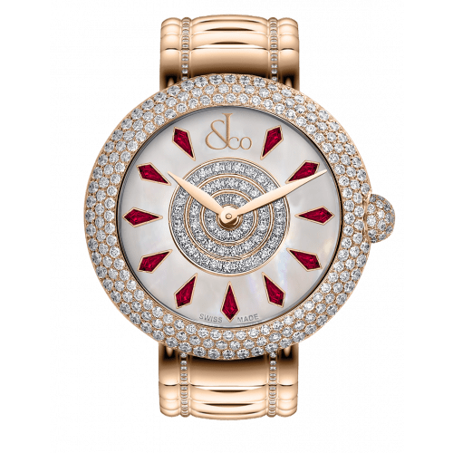 Brilliant Half Pave Rose Gold Couture Ruby 44mm