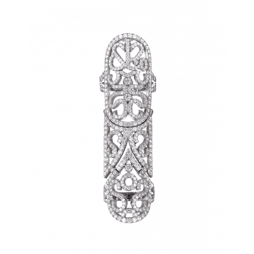 Lace  White Gold Diamond Lace Full Finger Ring