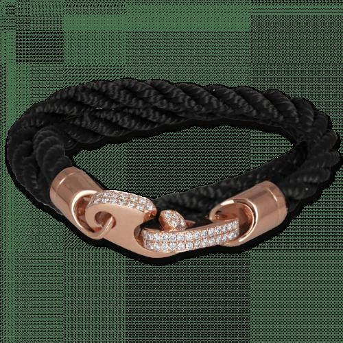 Mens Perfect Fit Bracelet Black Rope