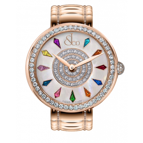 Brilliant One Row Rose Gold Couture 44mm