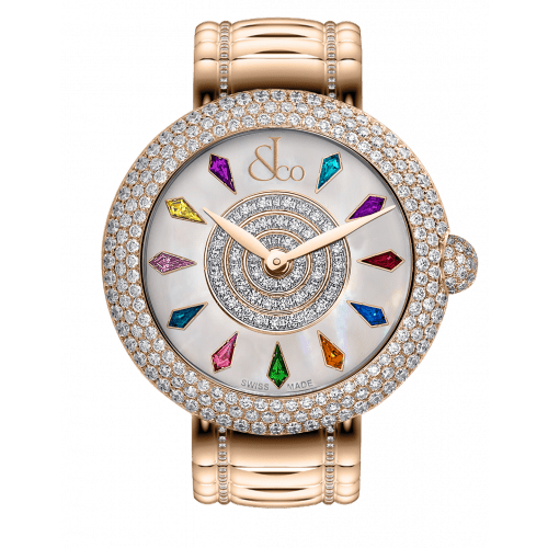 Brilliant Half Pave Rose Gold Couture 44mm