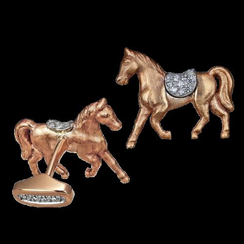 Rose Gold Horse Cufflinks