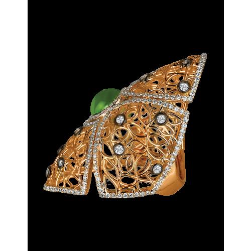 Nadira Rose Gold Cocktail Ring