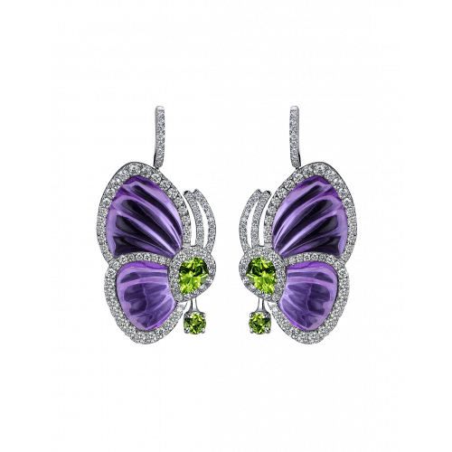 Amethyst Papillon Earrings