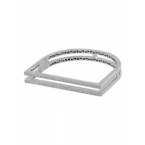 Nima's Classic Bracelet White Gold Full Pave