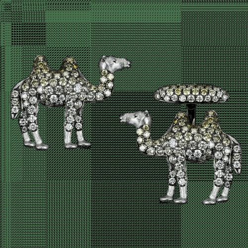 White Gold Camel Cufflinks