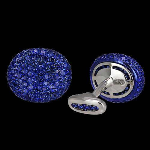 Kidney Sapphire Cufflinks