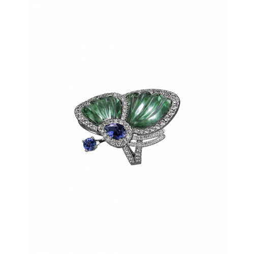 Prasiolite Papillon Ring