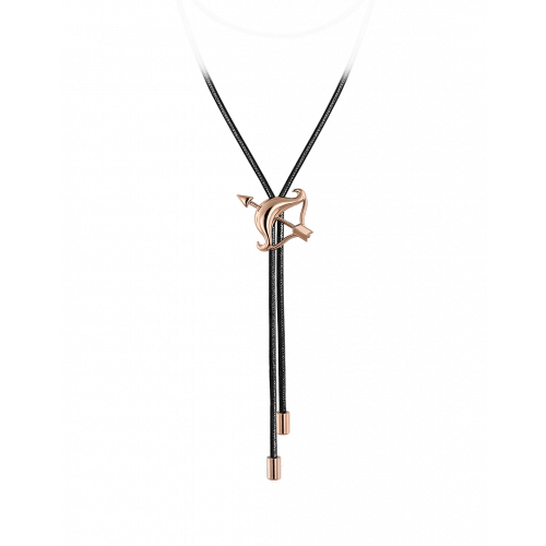 Zodiac Sagittarius String Necklace Rose Gold
