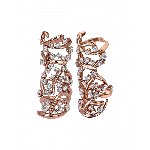Rose Gold Carnivale Full Finger Ring