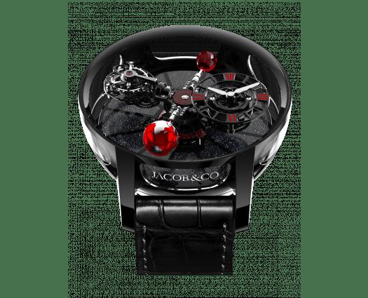 Astronomia Tourbillon Black Ceramic Black & Red Movement