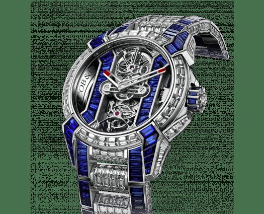 Epic X Tourbillion Skeleton Blue Sapphires Diamond Bracelet