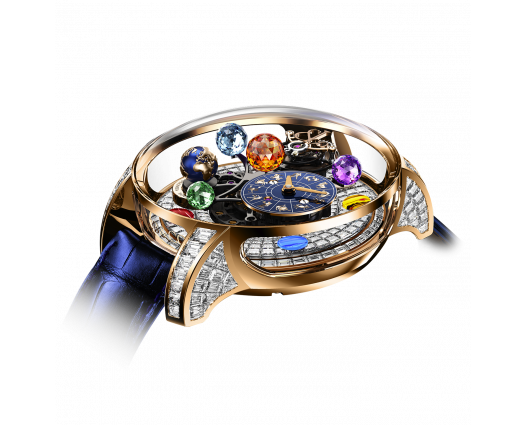 Astronomia Solar Baguette Jewelery – Planets – Zodiac- Rose Gold