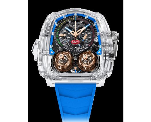 Twin Turbo Furious Bugatti Sapphire Crystal Blue Inner Ring