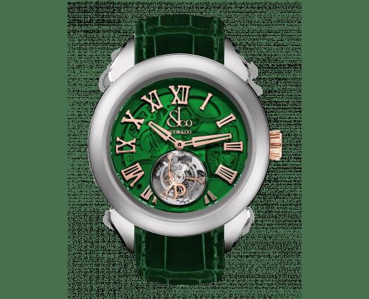 Palatial Flying Tourbillon Hours & Minutes Titanium (Green Mineral Crystal)