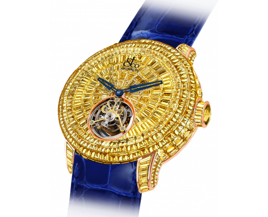 Caviar Tourbillon Baguettes Yellow Diamonds