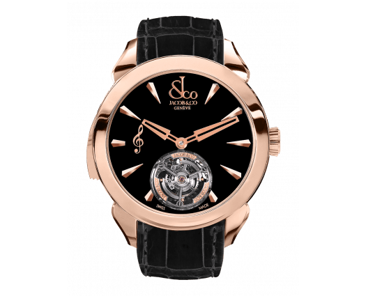 Palatial Flying Tourbillon Minute Repeater Rose Gold (Black Mineral Crystal)
